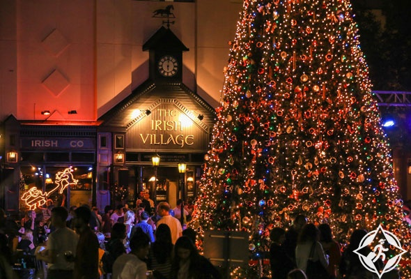القرية الإيرلندية احتفال رأس السنة