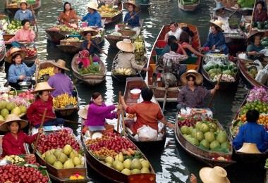 راتشابوري - سوق دامنوين سادواك العائم
