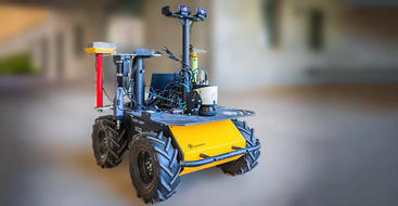 Base model for an agricultural robot that will collect leaves and test them for moisture to determine when to irrigate