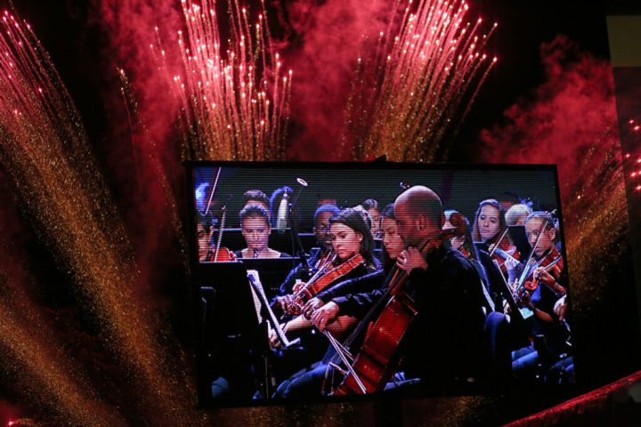 """UMBC Symphony Orchestra performs """"Firebird"""" at the 50th anniversary finale."""
