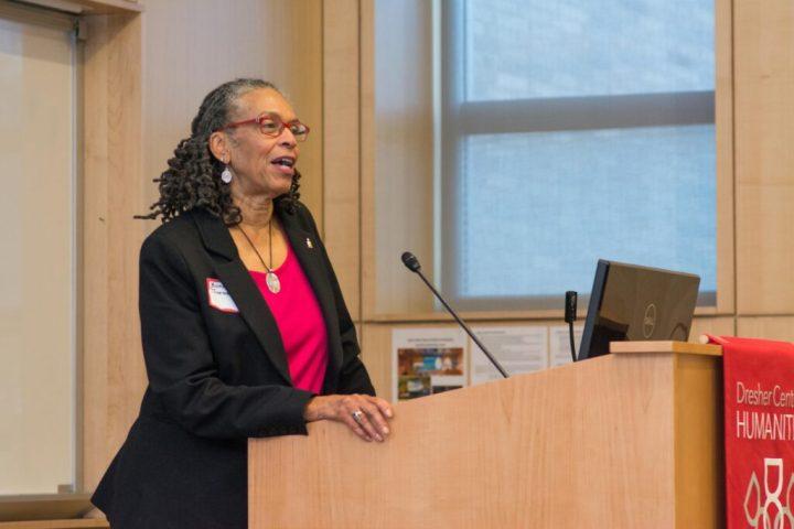 Bonnie Thornton Dill speaks during Baltimore Stories.