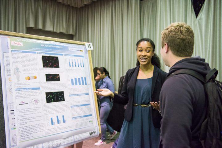 Elise Adamson, CBEE, URA Scholar, presents at URCAD 2017.