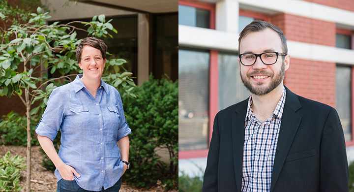 Erin Green and Lee Blaney received nearly $1.5 million combined in research grants.