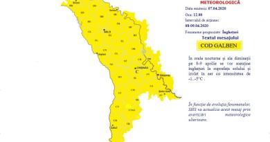 Meteorologii au emis COD GALBEN de vânt puternic în întreaga țară