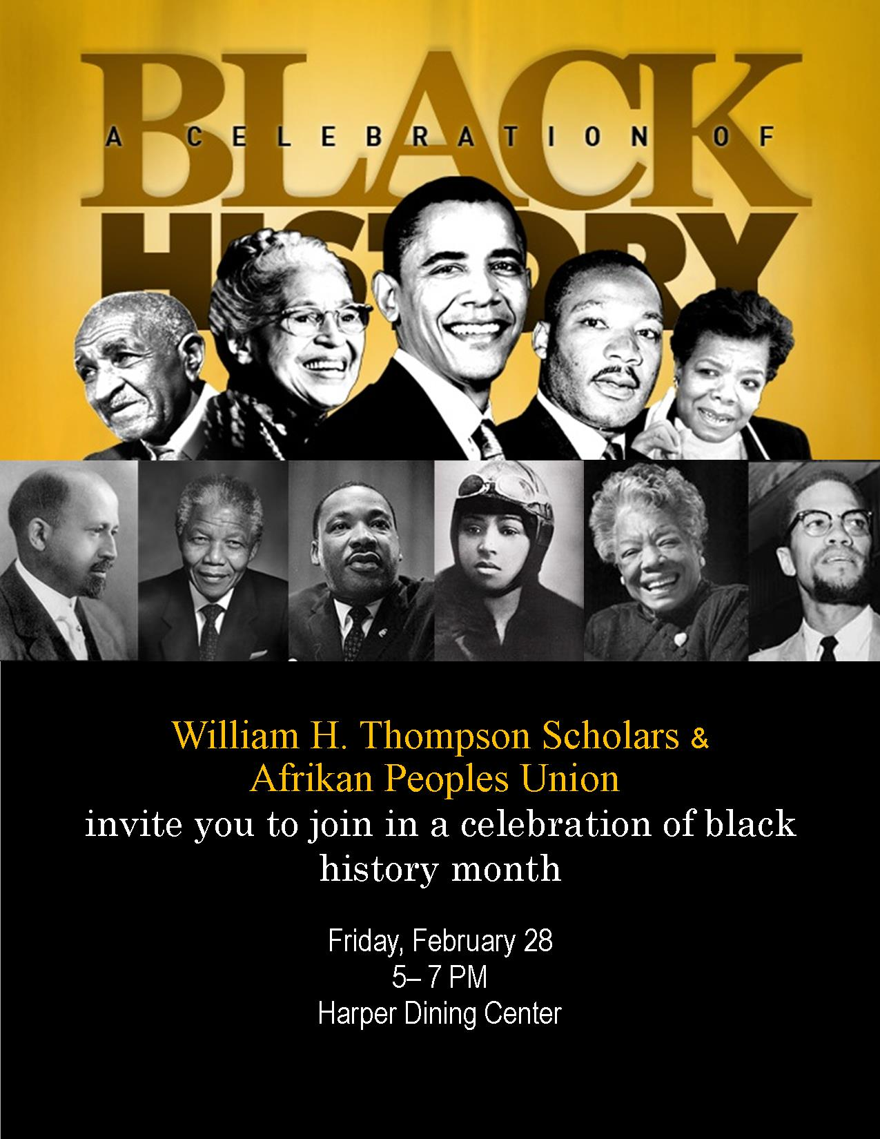 Black History Month Celebration Is Feb 28