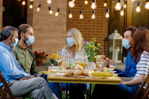 To gather safely this year, quarantine beforehand and try not to share plates or utensils. (Photo/Shutterstock)