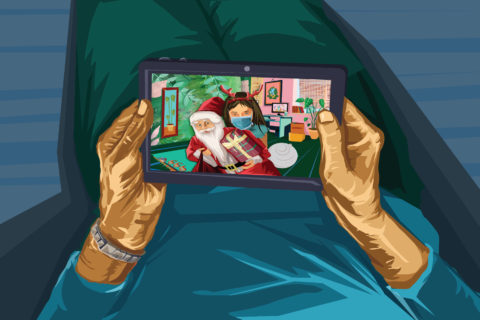 Months of being in isolation can take a toll on your psyche, especially during the holiday season. (Illustration/iStock)
