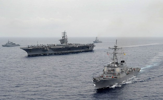 Ships from the USS Dwight D. Eisenhower from Carrier Strike Group. US Navy Photo