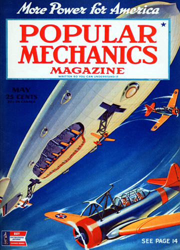 The cover of the May 1942 issue of Popular Mechanics.