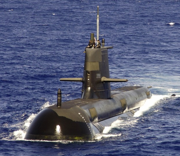 Australian submarine HMAS Rankin in 2006. US Navy Photo