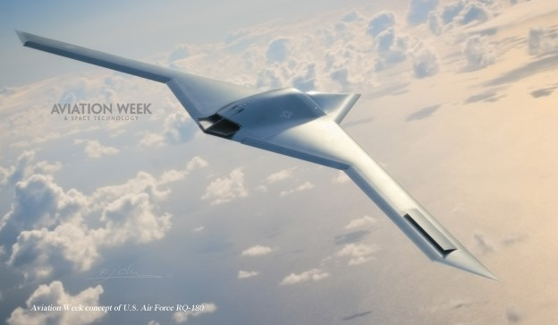 An artist's conception of the Northrop Grumman RQ-180