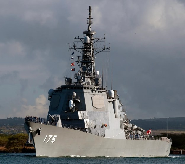 JDS Myoko (DDG-175) pulls out of Joint Base Pearl Harbor-Hickam to support Rim of the Pacific (RIMPAC) 2012. US Navy Photo