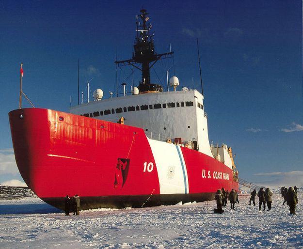 USCSC Polar Star (WABG-10) in the Antarctic in 2006. US Coast Guard Photo
