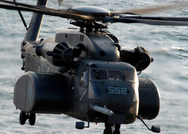 "MH-53E from Mine Countermeasure Squadron 14 ""Vanguard"" (HM-14) in 2006. US Navy Photo"