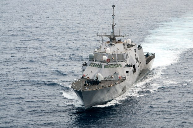 USS Freedom (LCS-1) arrives at Joint Base Pearl Harbor-Hickam on Dec. 13, 2013.