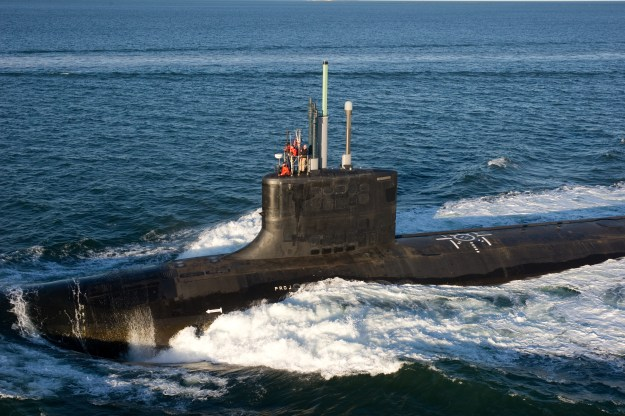 USS Mississippi (SSN-782) conducts alpha trials in the Atlantic Ocean in 2012. US Navy Photo