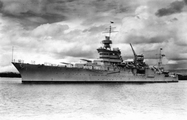 USS Indianapolis in Pearl Harbor, Hawaii in 1937. US Navy Photo