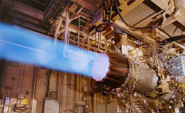 A F135 engine undergoing testing. DoD Photo