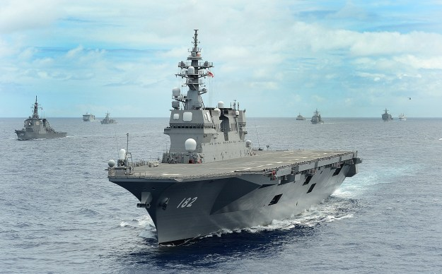 Japan Maritime Self-Defense Force helicopter destroyer JS Ise (DDH-182) on July, 25 2014. US Navy Photo