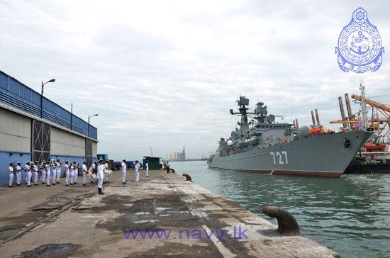 Frigate Yaroslav Mudry in the port of Colombo, Sri Lanka.