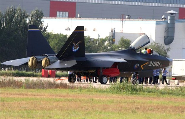 An undated photo of the Shenyang-J-31