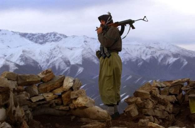 Undated photo of a Peshmerga fighter.