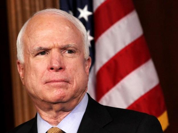 Sen. John McCain, (R-Ariz.)