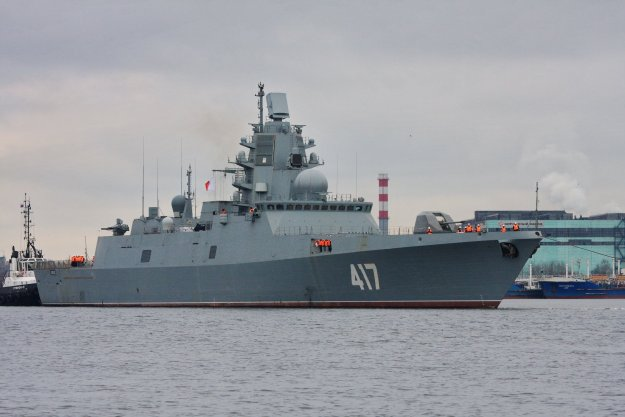 New Russian frigate Admiral Gorshkov in late 2014.