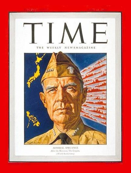 Adm. Raymond Spruance on the cover of Time on June 26, 1944