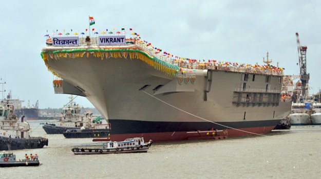 India's indigenous carrier Vibrant during its initial 2013 launching.
