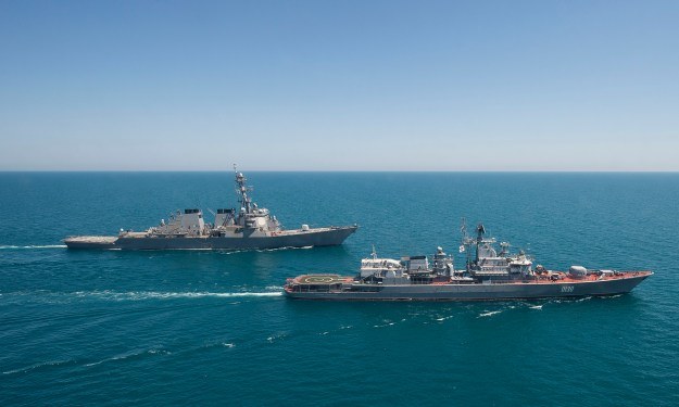 USS Ross Leaves Black Sea