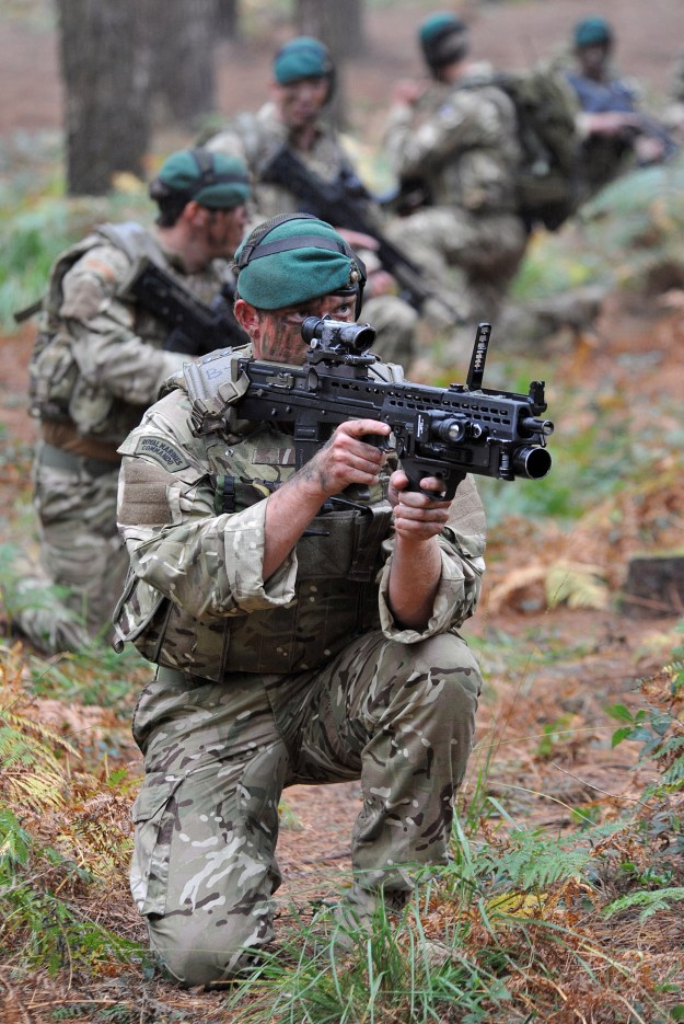 Royal Marine Commandos are pictured during a Green Ops exercise conducted over a two day period in various areas around Woodbury Common and Tregantle Ranges in Devon. UK MoD Photo