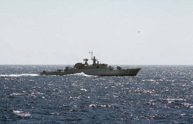 Crew of Iranian Frigate Points Weapons at U.S. Navy Helo, Coalition Auxiliary