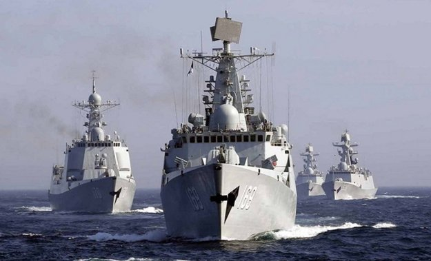 A photo of Chinese People's Liberation Army Navy warships in 2014. PLAN Photo