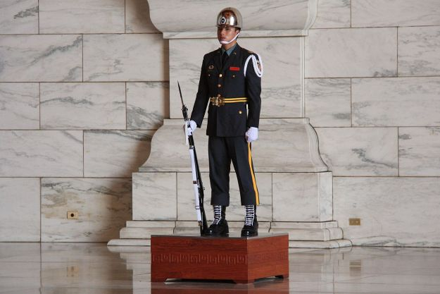 Guard at Chiang Kai-shek Memorial Hall. Photo via Wikipedia