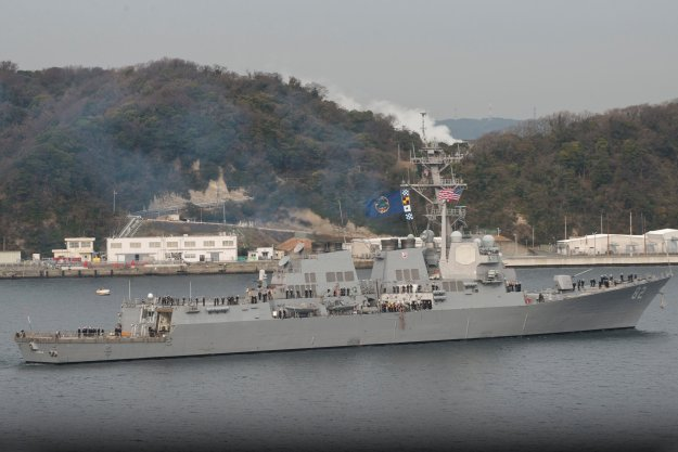 USS Lassen (DDG-82) departs Yokosuka for the final time as part of the forward-deployed naval forces on Jan. 6, 2016. US Navy Photo