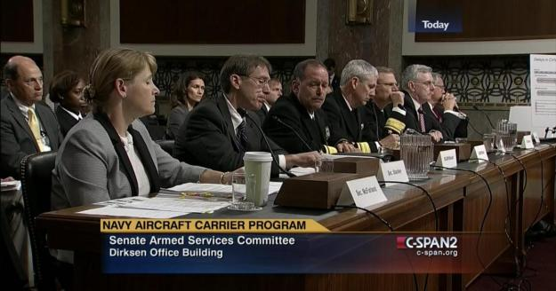 Navy officials testifying before the Senate Armed Services Committee. CSPAN Image