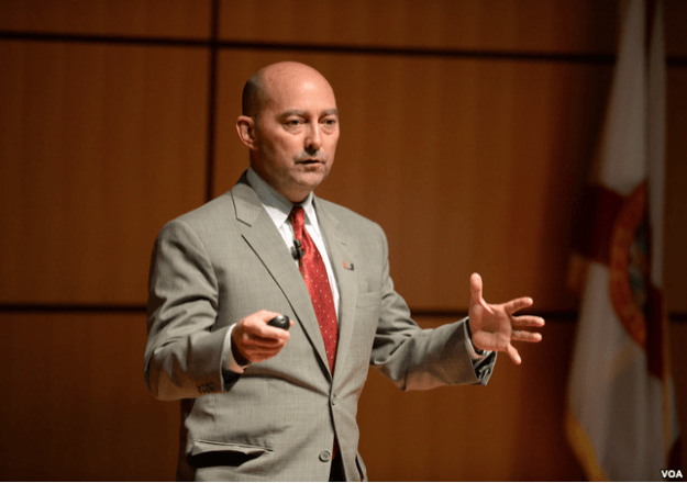 Former NATO commander James Stavridis. VOA Photo