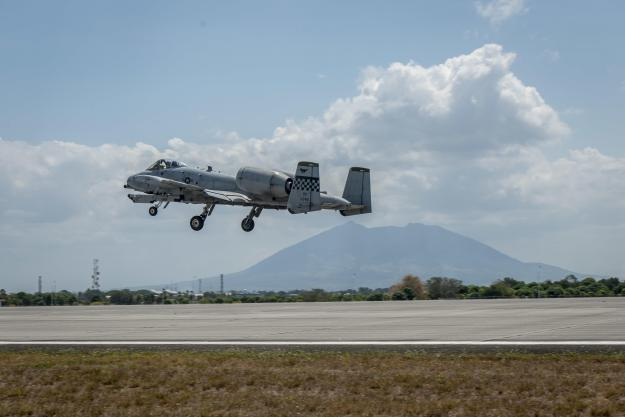 A-10 Warthogs Fly from Clark Air Base on April 19, 2016. US Air Force Photo