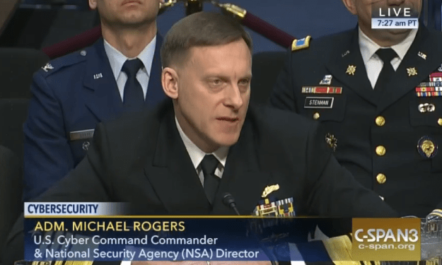 Adm. Mike Rogers before the Senate Armed Services Committee on April 5, 2016. CSPAN Photo