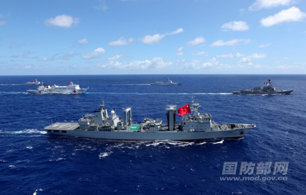 Chinese Warships Now Training with Ships from U.S. Carrier Strike Group