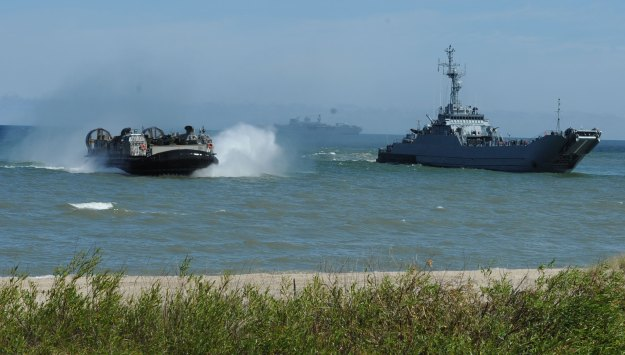 Allied forces practice amphibious assault near Ustka, northern Poland, on 17 June 2015 as part of BALTOPS 2015. NATO Photo
