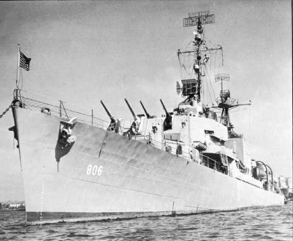 The original USS Higbee (DD-806) in 1945, the year it was commissioned.