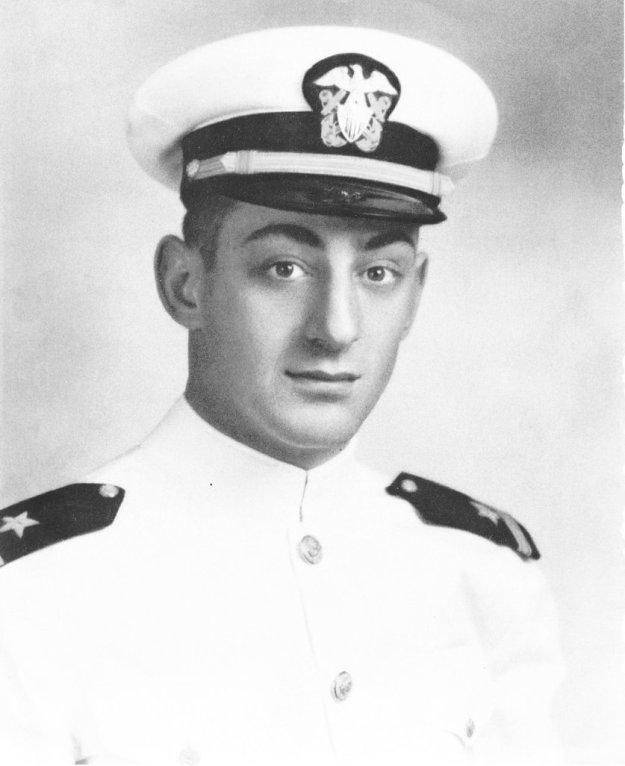 US Navy portrait of then Ens. Harvey Milk.