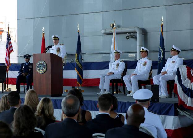 Rear Adm. Mewbourne Takes Over Military Sealift Command; RADM Shannon Retires