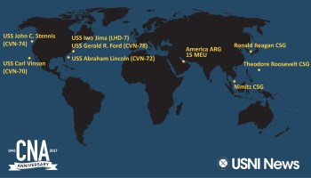 UPDATED US Aircraft Carriers Are Now Simultaneously Underway - Us aircraft carriers deployment map