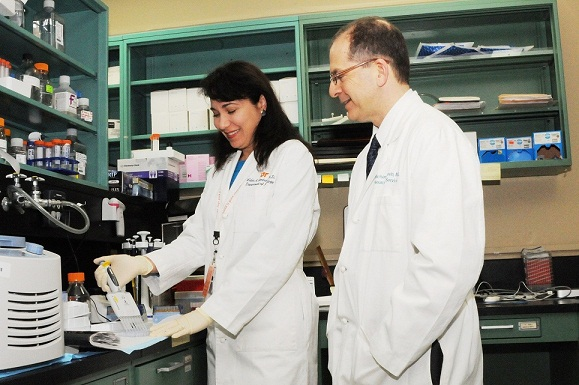Dr. Lidia Gardner and Dr. Michael Levin are researching Apolipoprotein A1, or ApoA1, and its relationship to Multiple Sclerosis.