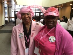 Carolyn Whitney and Vivian Chalmers are friends from school days and breast cancer survivors.