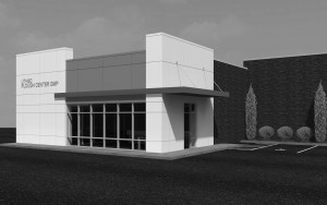A rendering of the new Plough Center for Sterile Drug Delivery Systems, a $16 million facility for manufacturing pharmaceuticals planned for UTHSC. Renovations to an existing building on the eastern edge of campus are set to begin in September 2015.
