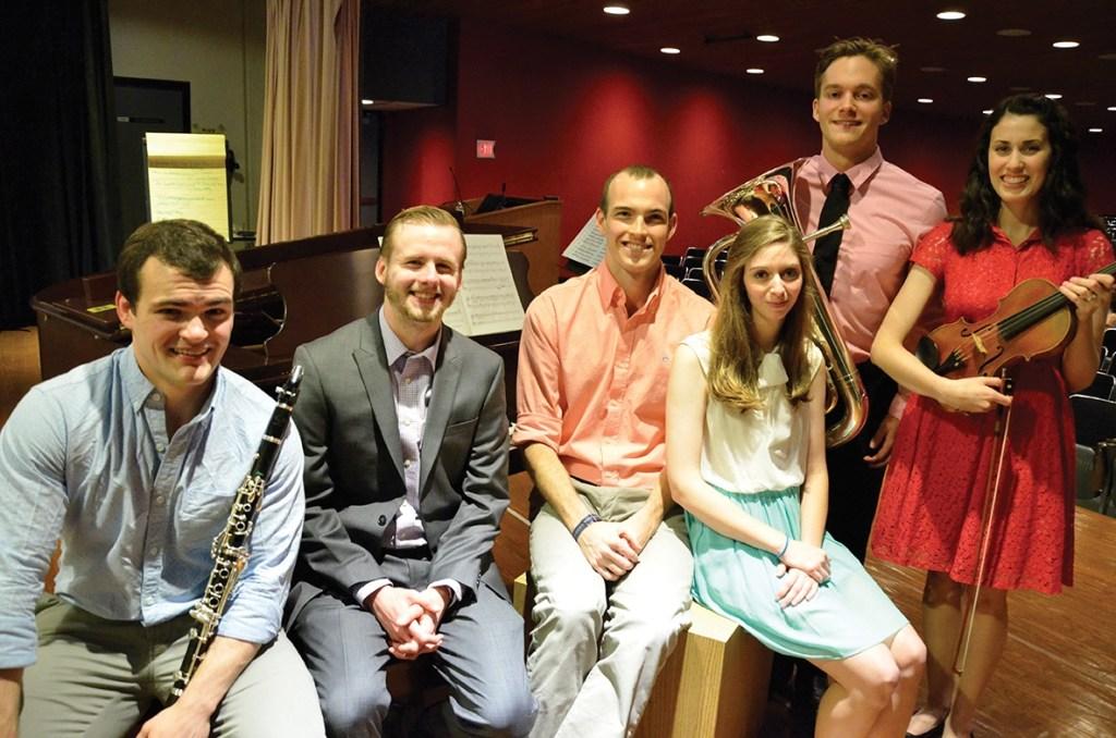 Student musicians after recital